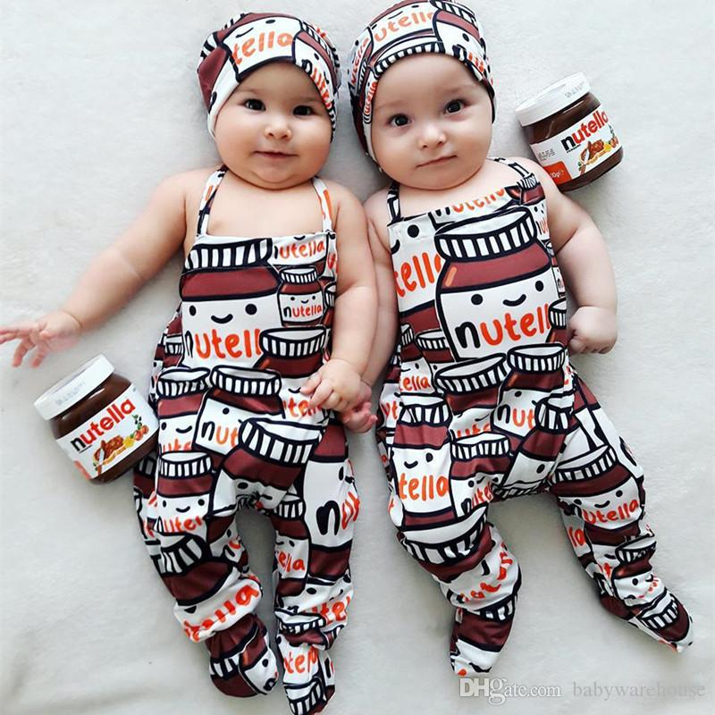 3d88a2976e2c 2018 INS New Infant Baby Romper + Hat Outfits 2018 Summer Baby ...