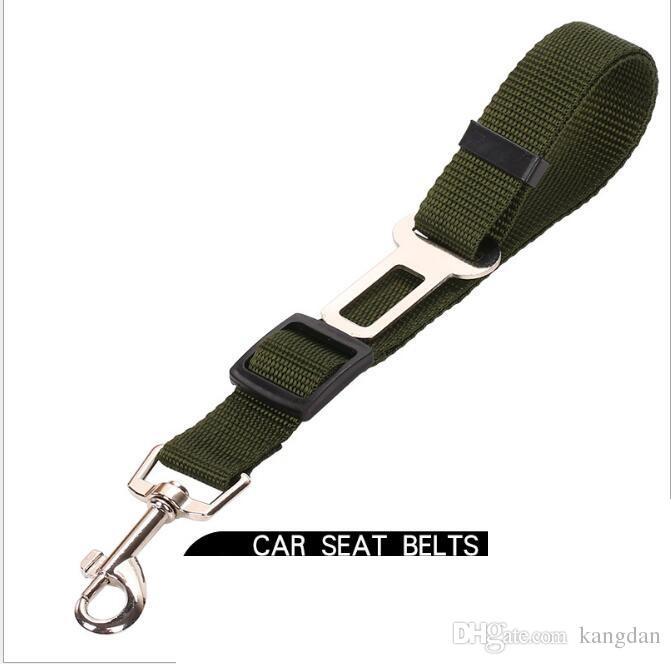Trelas do carro do cão leva Ajustável Car Safety Vehicle Seatbelt Cinto de segurança Harness Lead para Cat Dog Pet fornecedor cintos de segurança do carro