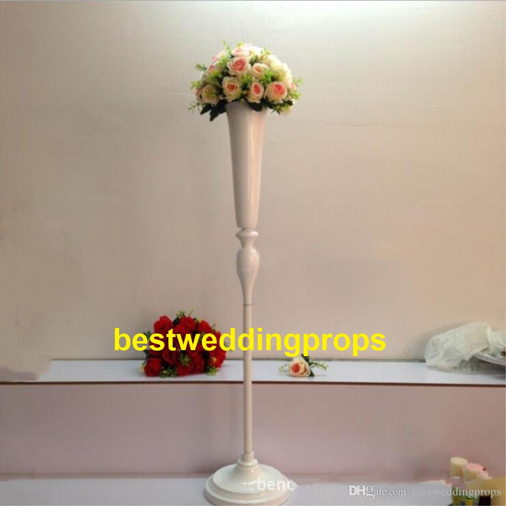 New Style Tall White Candlelabra Roman Column Wedding Centerpieces