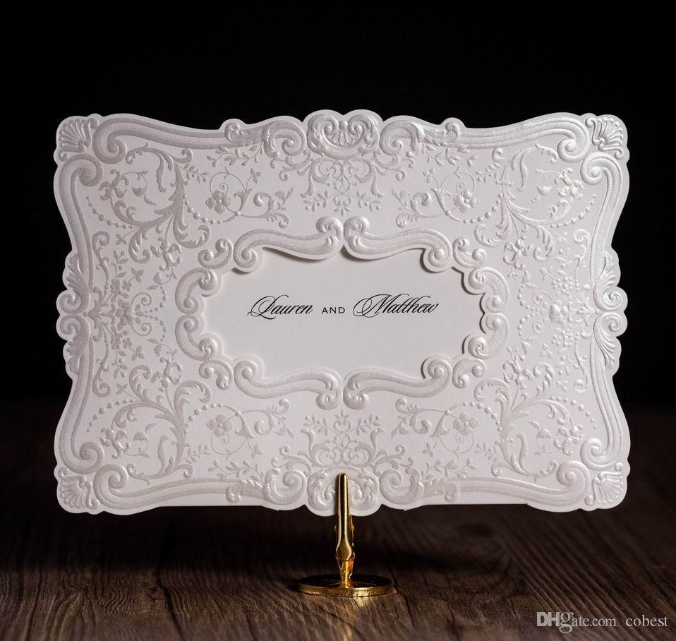 Europe Style Wedding Invitations Cards Silver Elegent Flower ...