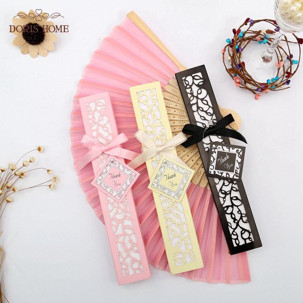 Satin Silk Folding Hand Held Folding Bamboo Fans With Names For ...