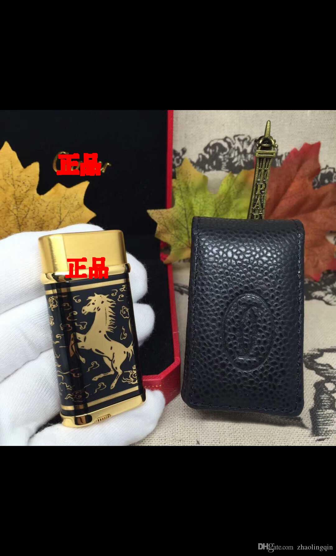 Lighter slanting fire lighter pure copper movements of the national package of gift box bags plus 20 yuan, leather cover plus 30 yuan