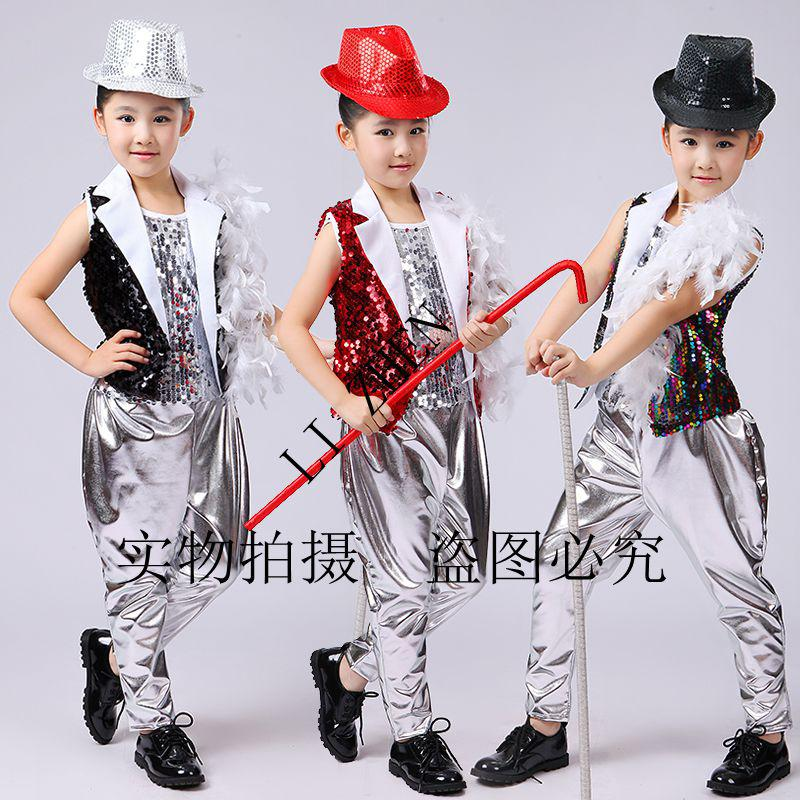 11c16c759227 2019 Kids Sequined Hip Hop Dancing Outfits Girls Jazz Tap Dance Costumes  Child Dance Stage Wear Ballroom Party Costumes From Shengui, $36.19 |  DHgate.Com