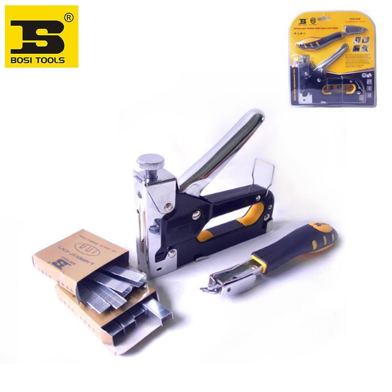 Bosi Heavy Duty Rapid Upholstery Hand Staple Nail Tacker Stapler Gun