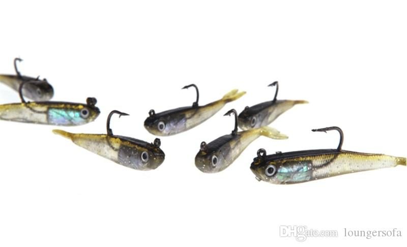 Artificial Mini Fishes Baits With Metal Hook Lures Pesca Creative 75mm Strong Fake Tackle For Outdoor Fishing Sports Accessories 1 3jj ZZ