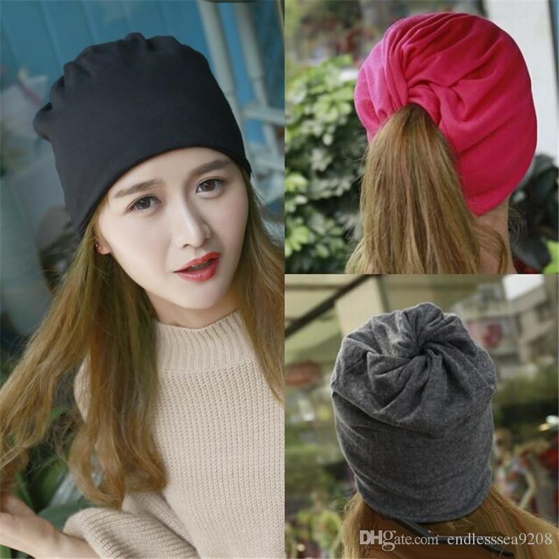 e1b97c7646fe4 Women S Hat Skullies Beanies Men Women Beanie Knitted Winter Autumn Cap  Solid Color Hip Hop Slouch Hats Skullies Chapeu Feminino Knit Hats Cheap  Hats From ...