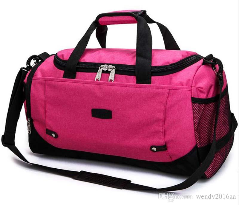 Women Men Nylon Breathable Large Capacity travel duffle bag Pure Brief Zipper Desinger Sport&Outdoor Packs