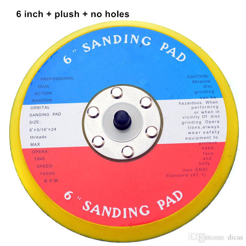 Livraison gratuite pneumatique ponceuse ponceuse à air pad de ponçage en peluche brillant base de ponçage polissage meulage ponçage châssis 1 à 6 pouces