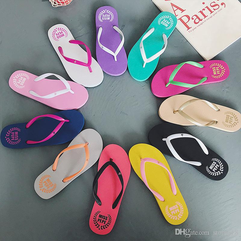 81abe0ff9799 Wholesale Special SALES Candy Colors Womens Beach Summer Slippers Flip Flops  Couple Slippers Multi Color Pink Dog Slippers Leather Boots For Women  Purple ...