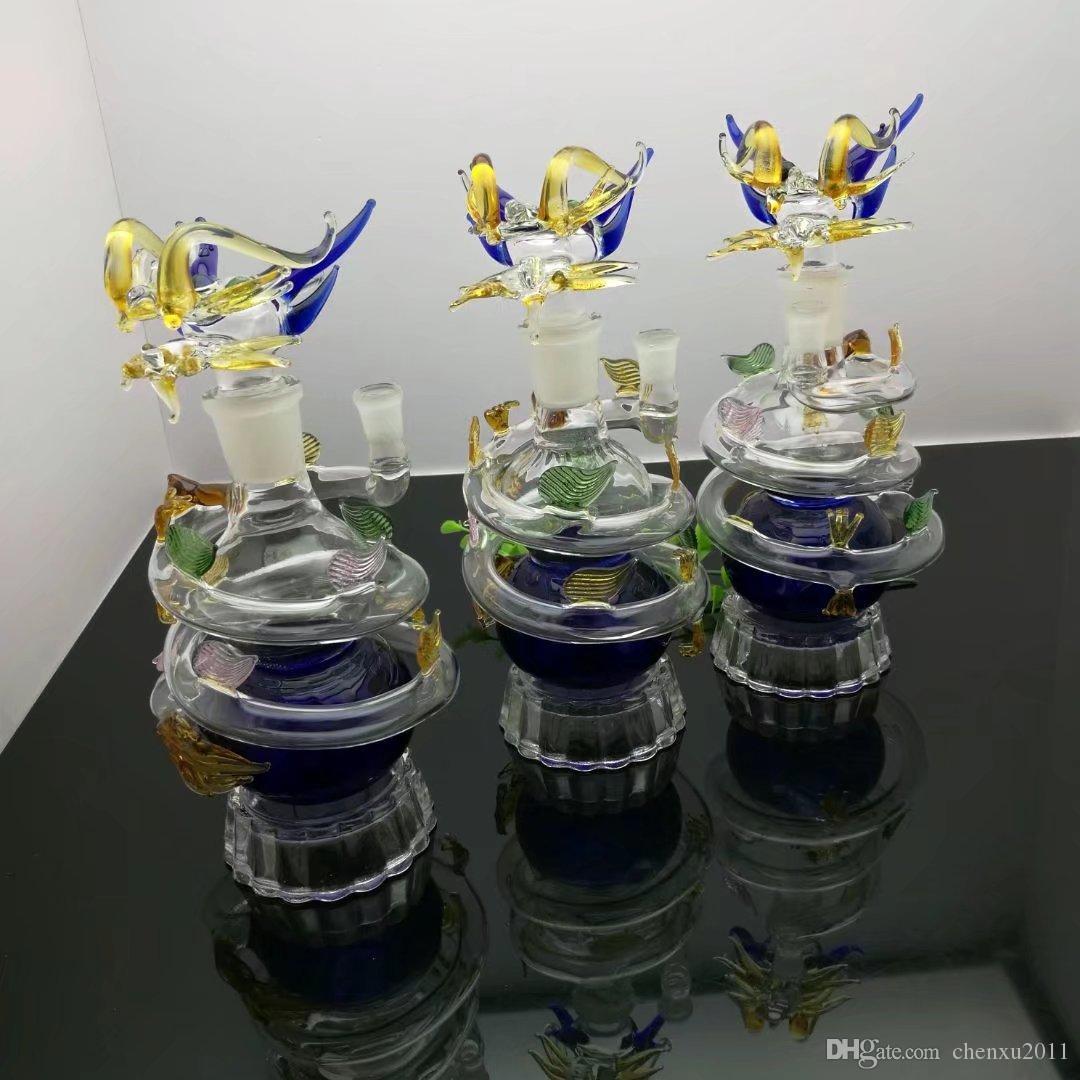 Avrupa ve amerikan sıcak satış renkli ejderha cam su şişesi