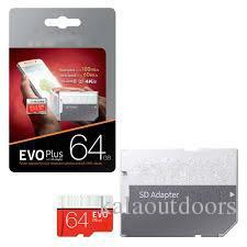 새로운 도착 블랙 에보 플러스 + 64GB 128GB 256GB 클래스 10 무료 SD 어댑터 소매 블리스 터 패키지 Epacket DHL 무료 배송