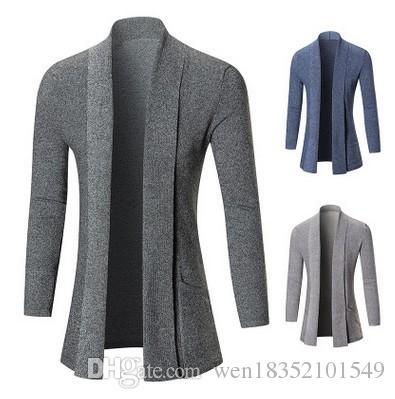 Großhandel Außenhandel Explosion Modelle 2017 Neue Wintermantel Farbe Trend  Der Männer Lange Strickjacke Pullover Mantel Von Wen18352101549, $11.96 Auf  De.