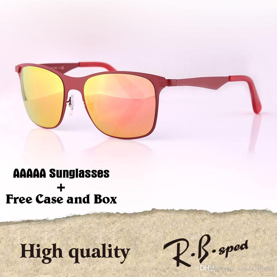 4014a0c2e65 High Quality Metal Frame Uv400 Lenses Sunglasses Women Men Brand ...