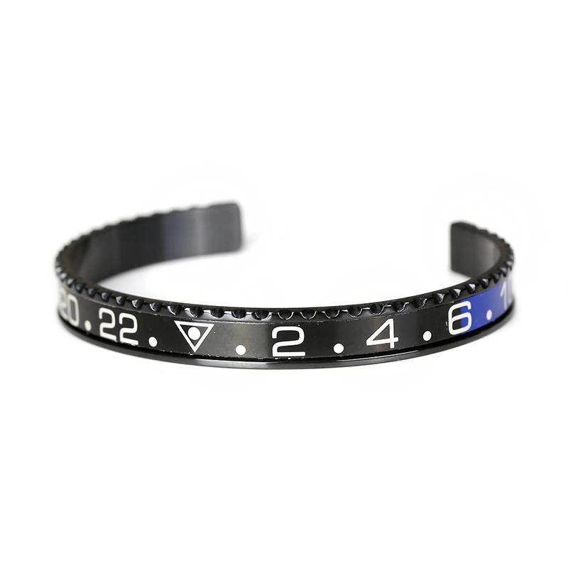 Klassische Schwarz Überzogene Tachometer Offizielle Dia Men Manschette Armband Armreifen in 316l Edelstahl Tacho Lünette Armband Männer Schmuck