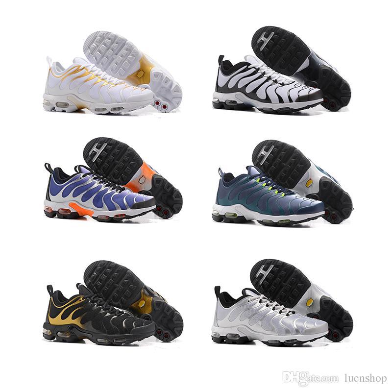 info for 02d9e 0d820 Compre Nike Air Max Zapatos De Vestir De Hombres Blancos Y Dorados 2018 Best  Classic Guarantee Tn Zapatillas De Hombre Zapatos Transpirables Zapatillas  De ...