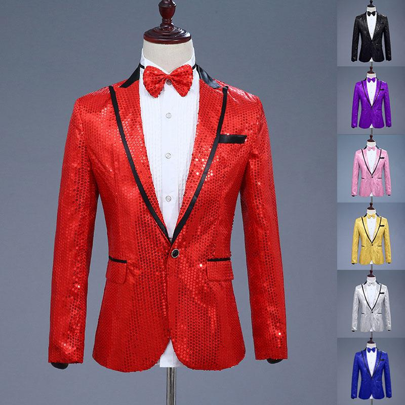 2019 2018 Paillette Male Master Sequins Stage Costumes Men Terno Suit MC  Host Clothing Singer Suits   Blazer Show Jacket Outerwear From Sacallion c35ec8f75ac6