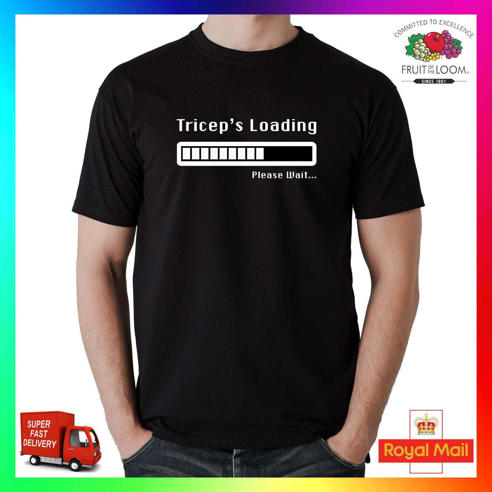 9f4f0e1844c Triceps Loading Please Wait T Shirt Tee Arms MMA Workout Gym Pre Best  Motivation Trendy T Shirts For Men Shirts Funny From Sevenshopping