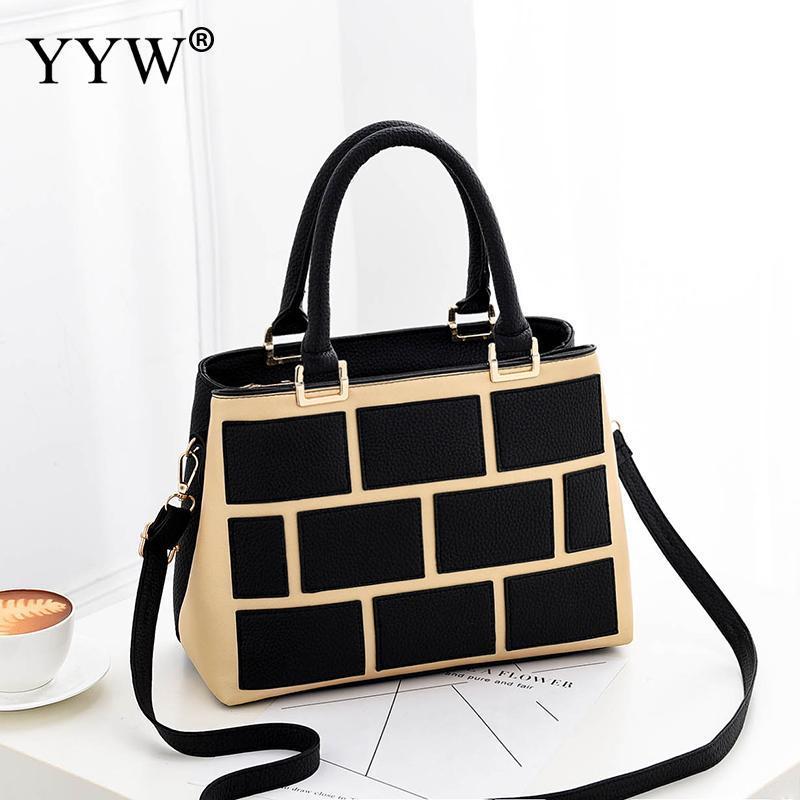 278e06cafc Luxury Fashion Pu Leather Handbag For Women Plaid Portable Bags Top Handle  Hand Bags Tote Crossbody Large Capacity Shoulder Shoulder Bags Designer  Purses ...