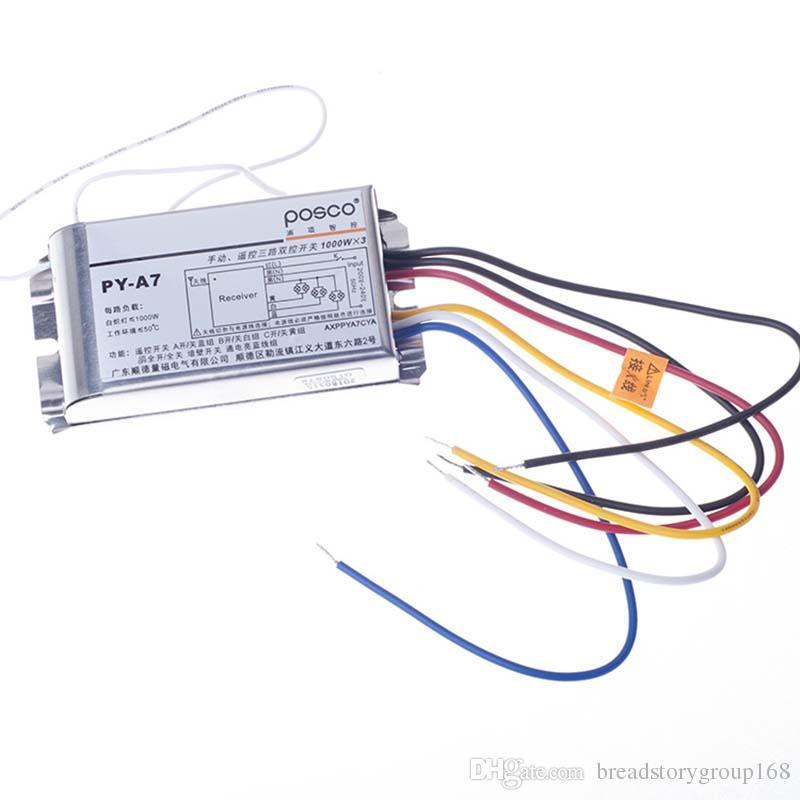POSCO Wireless Switch Controle Remoto 3 maneiras Digital Interruptor remoto de Economia de Energia Lâmpada Lâmpadas Lâmpada fluorescente