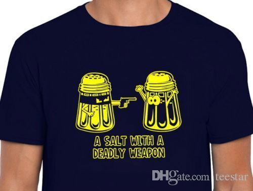 Großhandel Ein Salz Mit Einer Tödlichen Waffe Neuheit Cooking T Shirt  Lustige Cook Mess Bbq Geschenk Tee Männer Kurzarm T Shirt Baumwolle Von  Baisheng02, ... 4d3869ee0c