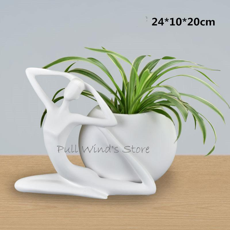 Perfect Art Pottery Ceramics Vase Abstract Art Character White Vases