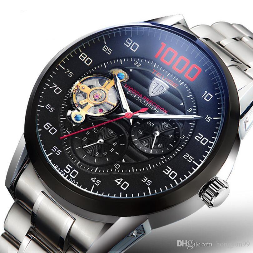1b593812c8d3 Compre Tevise Marca Moda Relojes Relogio De Lujo Para Hombres Reloj  Automático Reloj Auto Viento Hombre De Negocios Relojes Mecánicos A Prueba  De Agua A ...