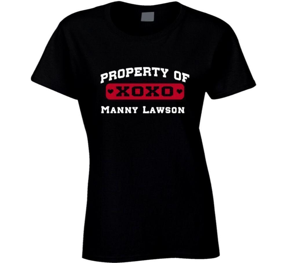 Manny Lawson Buffalo Football Love Property Of T Shirt Humorous T