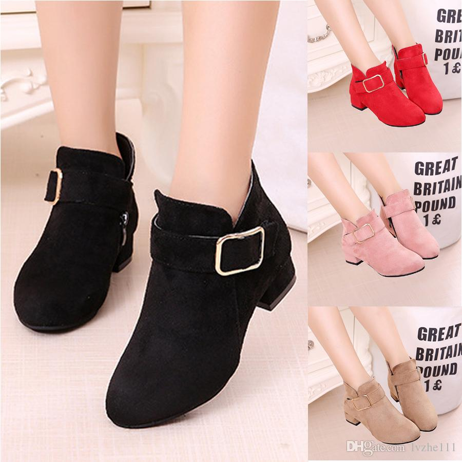 New Fashion Child Kids Girls Buckle Low Block Heels Party Wedding Princess  Ankle Boots Shoes Shoes Boots High Heels Online with  19.41 Piece on  Lvzhe111 s ... 2e2c50e59278