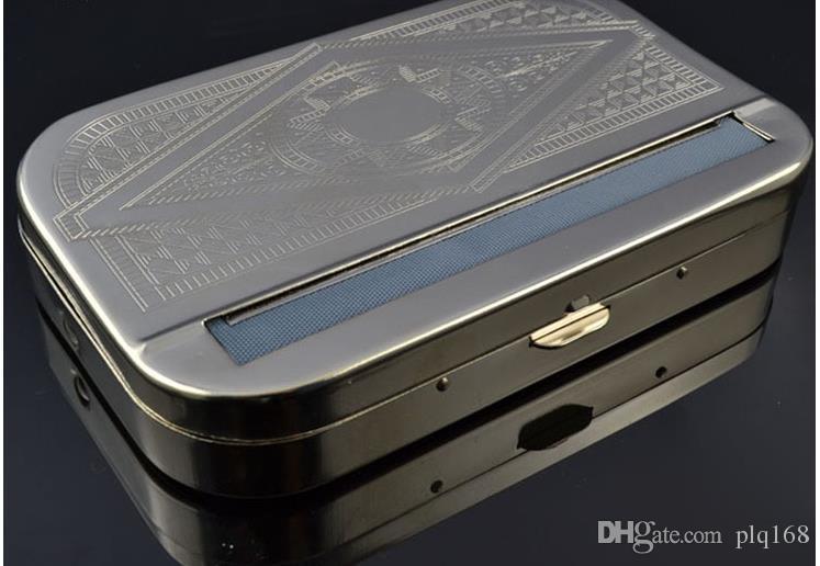Uzun Tip 110MM Paslanmaz Çelik Otomatik Sigara Tutucu İki Sigara Kutusu
