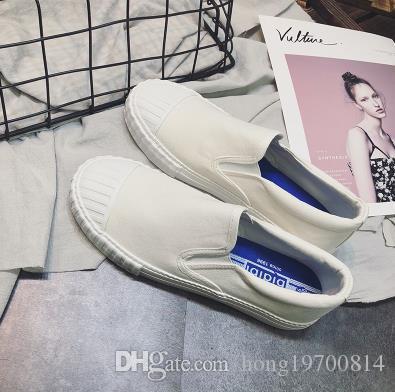e85877292 2018 Nuove Donne Scarpe zapatos perezosos coreanos Lace Up Punta Rotonda  Del Bastón Del Fumetto de Marca Nuove Donne di Modo Piatto Scarpe