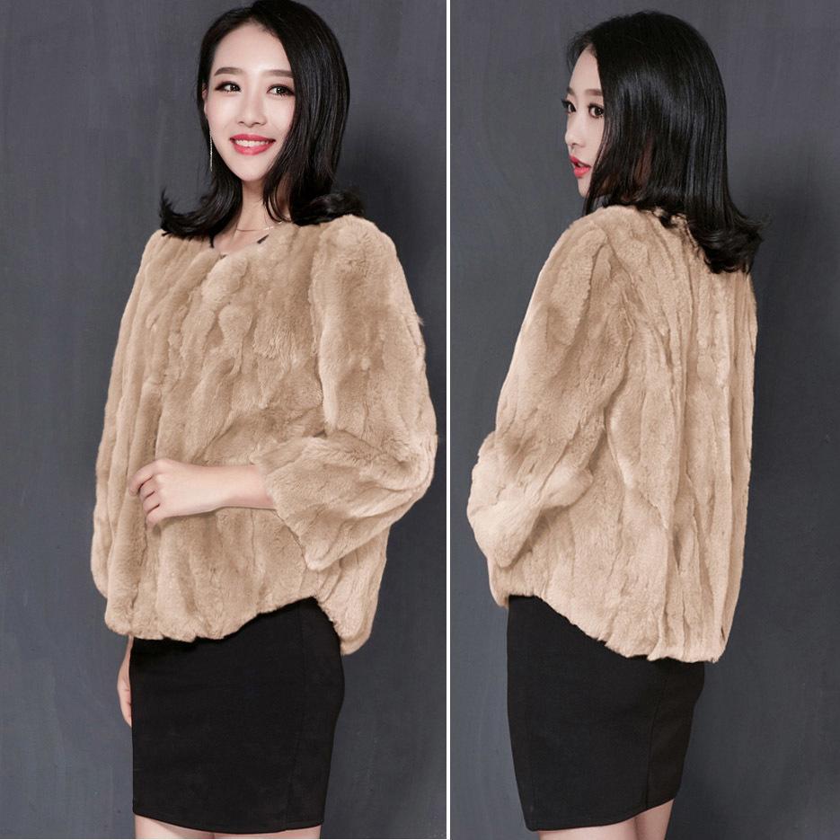 550426c9bab Plus Size Coat Real Women Ladies Warm Winter Jackets Fashion Autumn Soft  Natural Skin Rex Rabbit Fur Outwears C18110301 Jean Jackets Women Leather  Jackets ...