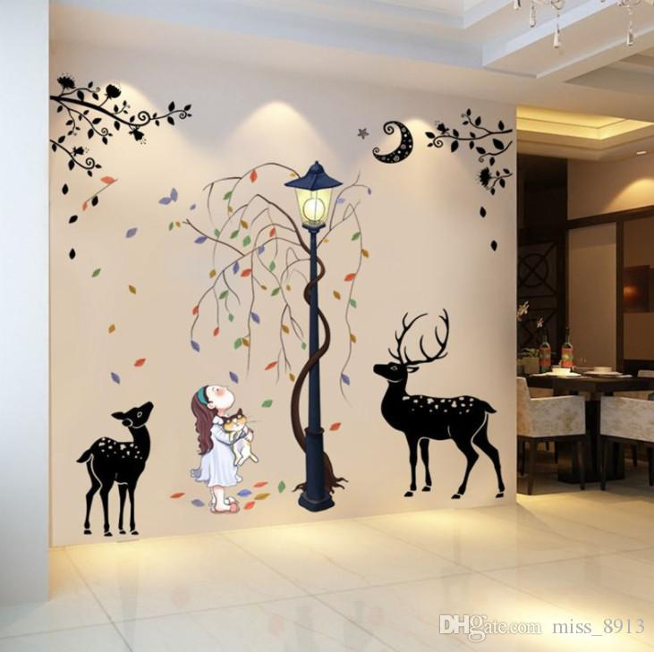 2018 wall stickers for kids rooms safari nursery rooms baby home