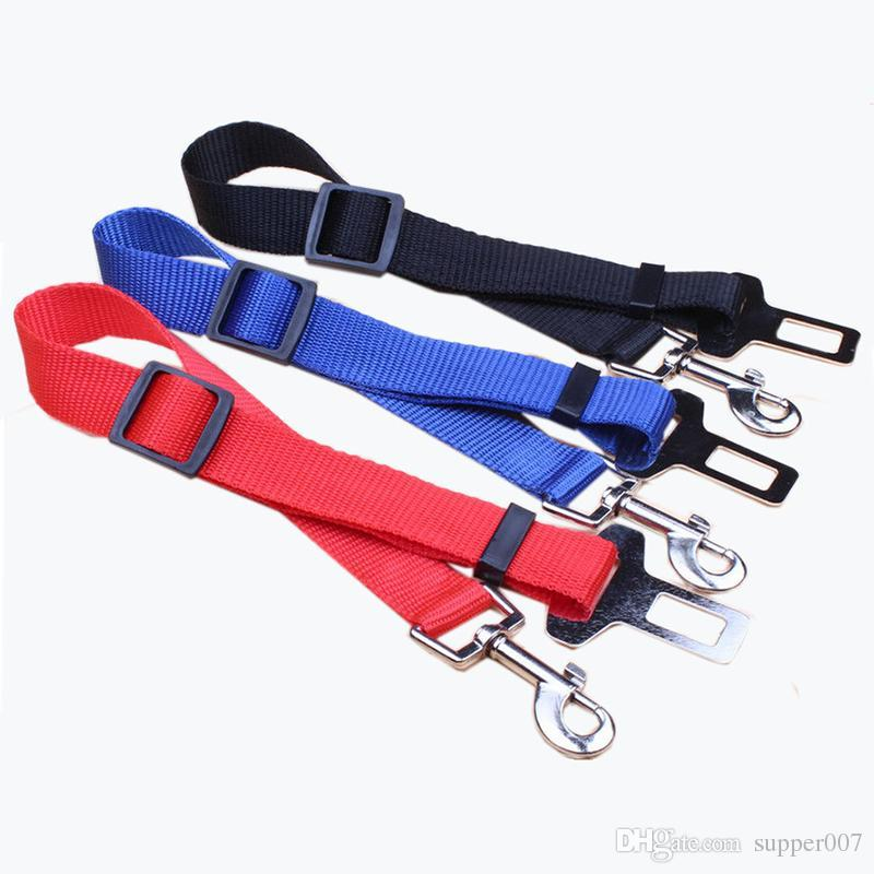 Pet Cat Dog Safety Vehicle Car Seat Belt Travel Accessories Clip Lead Restraint Harness Traction New Adjustable Lead30