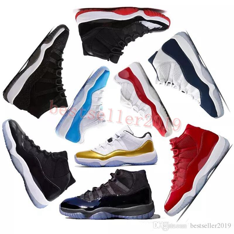2018 Basketball Shoes Prom Night 11 11s Concord Gym Red Midnight ... 989a05dd0a79