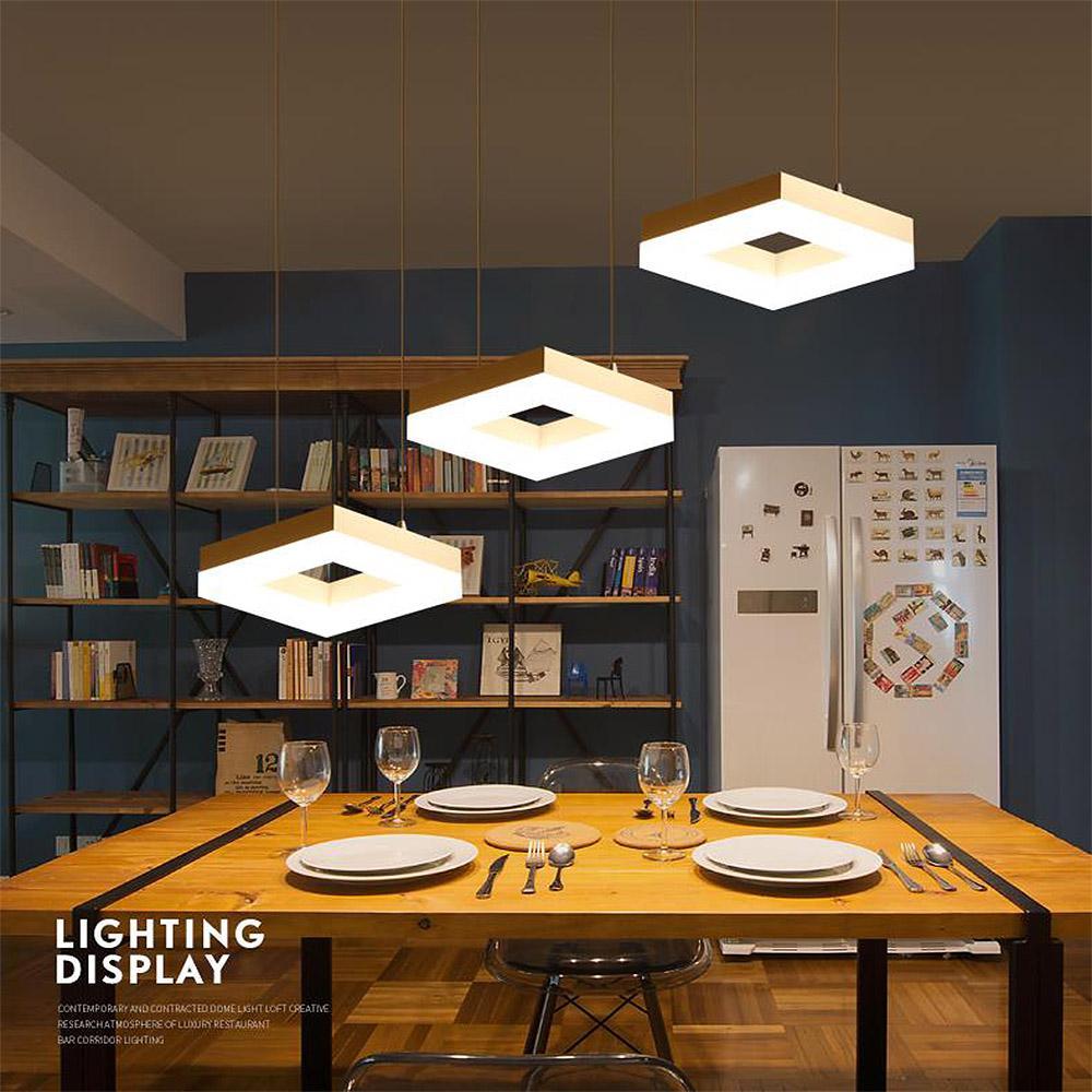Acheter Lustre Éclairage Lustre Led Pendentif Moderne Plafond En Métal  Suspension Lampe Fixture Décoration Cuisine Salle À Manger Chambre De  $158.3 Du ...