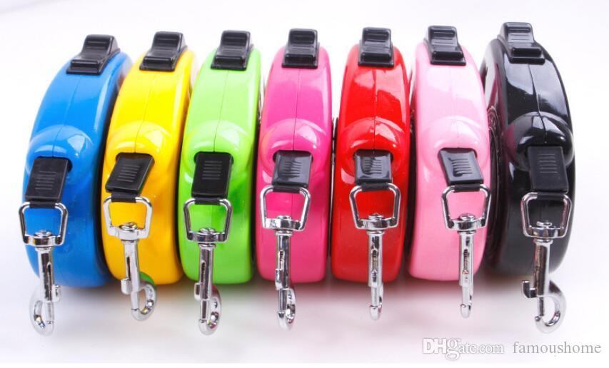Mode Zugseil für Haustiere Puppy Cat Dog Automatische Traktor Hund Seil Leine Pet kragen 7 farben freies verschiffen