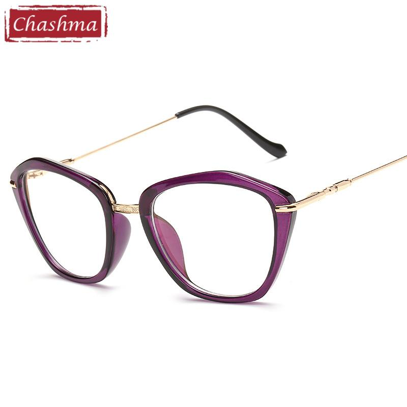b77390df22 2019 Chashma Brand 2018 Fashion Eyeglasses Cat Eye Glasses Fashion Frames  Glasses Women Optical Eyewear Frame Purple From Vintage66