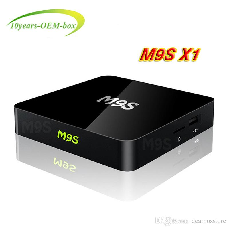 Hot M9S X1 Android TV Box S905X Quad Core Android 6.0 1G 8G Wifi 2.4G Smart Android Media Player Streaming Box better T95 M8S MXQ Pro