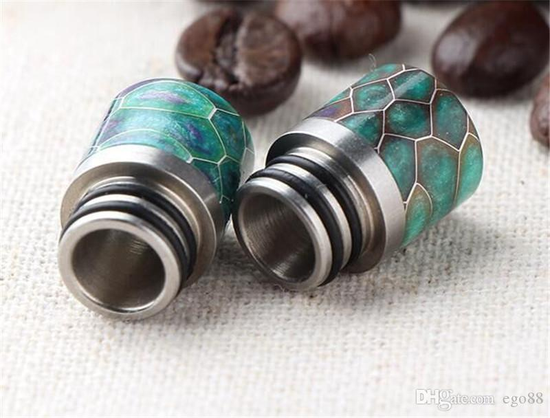 Vaporizer 510 resin drip tips honeycomb Pretty Pattern Wide Bore Mouthpiece E Cigarette