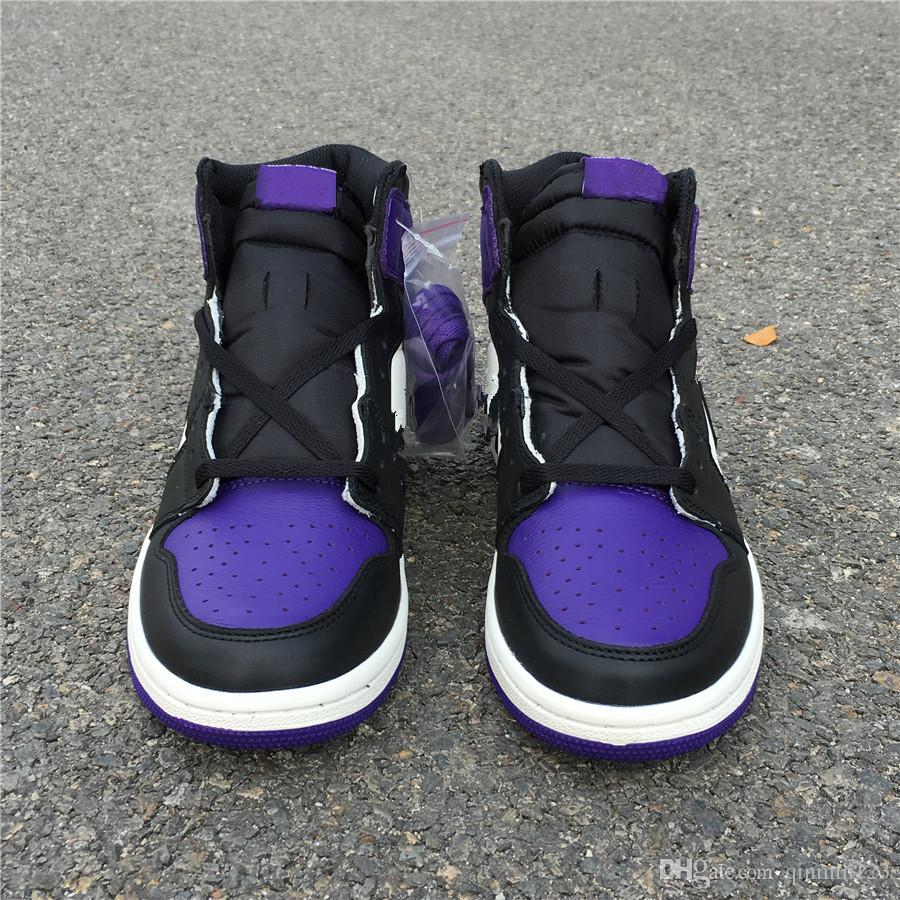 b776c9e99d New 1 OG high Court Purple Men Basketball Shoes trainers sports Sneakers  2018 free shipping top quality with box size 8-13