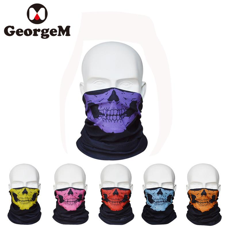 Sports Accessories Sports Face Masks Active Outdoor Sport Snowboarding Facemask Cycling Bike Half Face Mask Bicycle Skull Windproof Men Winter Ski Male Motorcycle Ghost Set