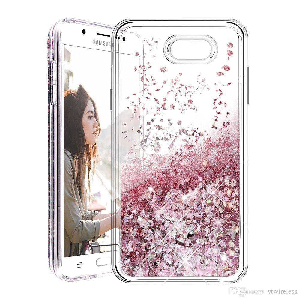 265ed781fbd Accesorios Celular Para Samsung Galaxy S7 Edge S7 Activo S6 Edge S9 Plus S5  S4 S3 Bling TPU Estuche De Agua Con Purpurina Líquida Estuches De Estrellas  ...