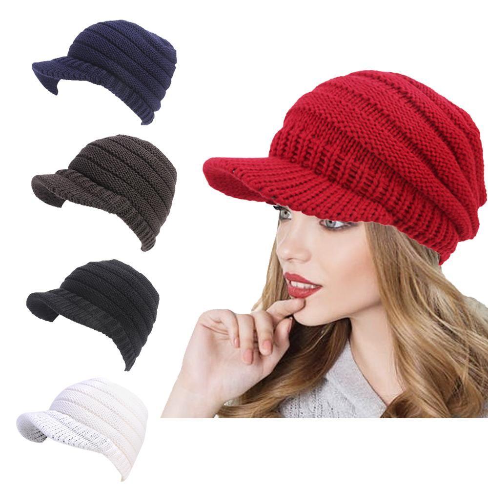 945e9e1bd9f 2019 Fashion New Women Winter Warm Knit Crochet Slouch Baggy Hat Ski Cap  Beret Cap From Wutiamou