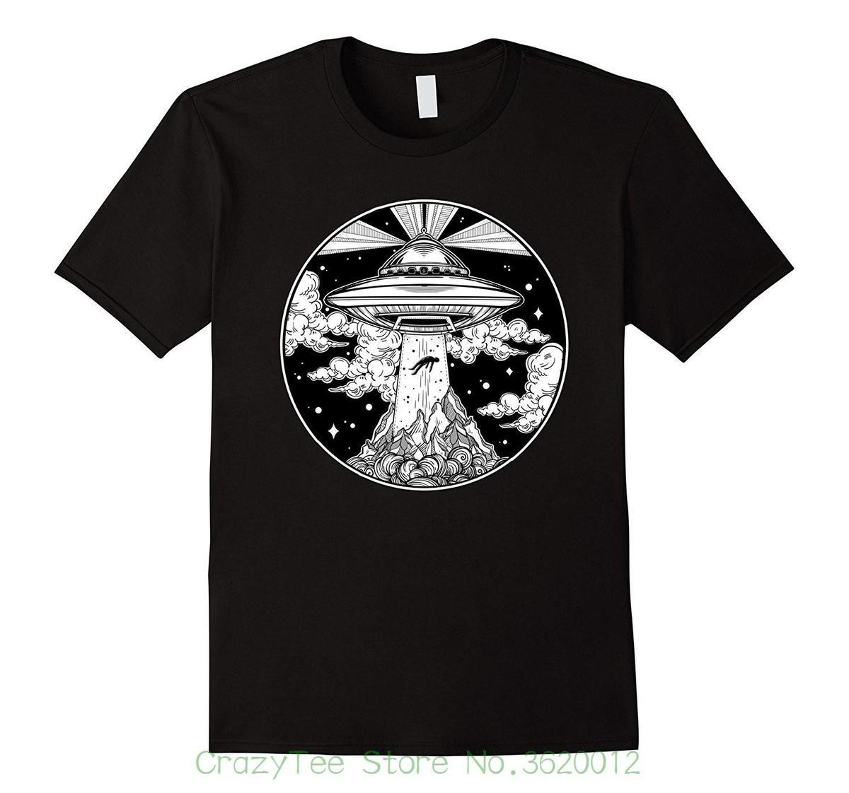 Tops Summer Cool Funny T Shirt Alien Space Tattoo Tshirt Ufo 51 Area