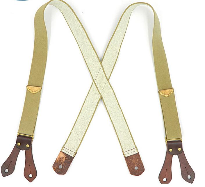 db19e1cf3440a Khaki Casual Suede Leather Adult Men's Suspender Suspenders Cheap Suspenders  Khaki Casual Suede Leather Adult Men's Online with $98.98/Piece on  Nasturtium's ...