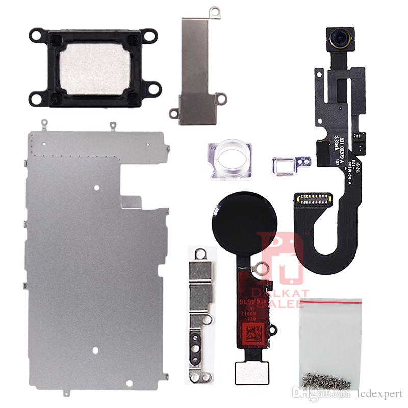 """For iphone 7 LCD Repair Parts Metal Plate Kit Front Camera Screws Earpiece Home Button Parts Set 4.7"""""""