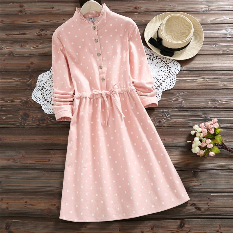 8c723dd8ac6f ... Pink Polk Dot Cute Kawaii Mini Ladies Dress Korea Elegant Vintage  Fleece Dress Black Dress Cocktail Party White Floral Summer Dress From  Yangfan515
