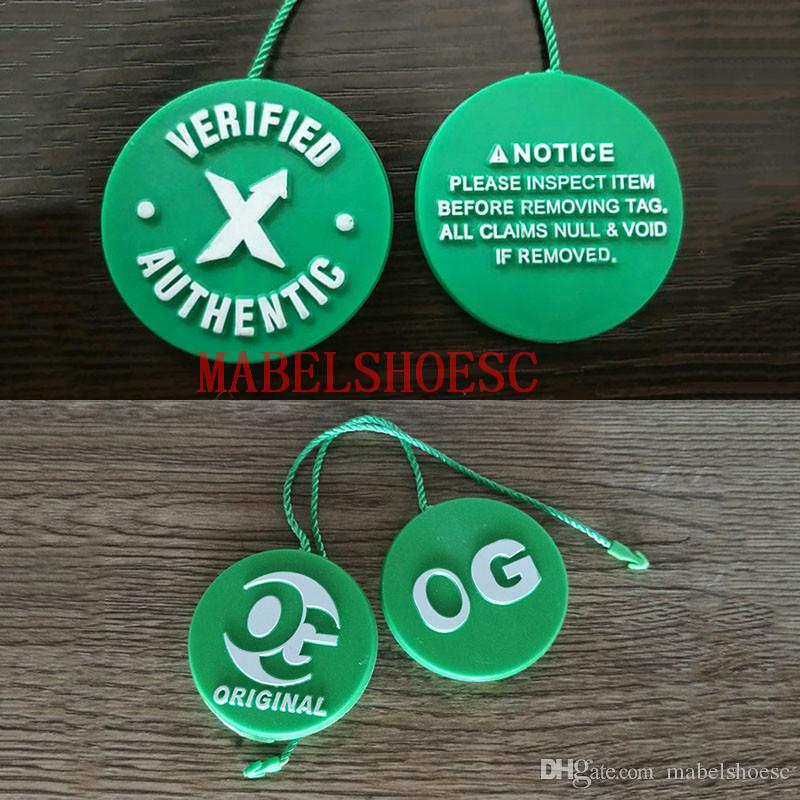 910ea3efc 2019 2018 Wholesale OG Verified Authentic Stock X Tag Plastic Tag Shoe  Buckle Off Shoes Green Circle White Quick Response Code QR Code From  Mabelshoesc