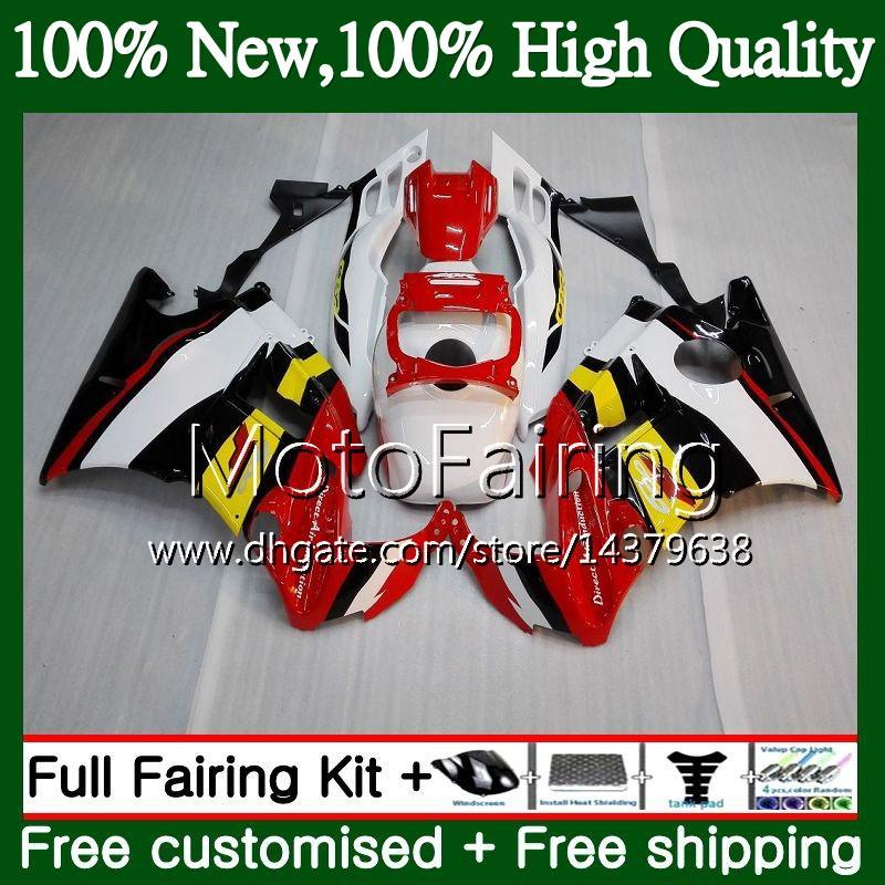 Cuerpo para HONDA CBR 600F2 FS Rojo blanco CBR600 F2 91 92 93 94 46MF22 CBR600FS CBR 600 F2 CBR600F2 1991 1992 1993 1994 Hot Fairing Bodywork