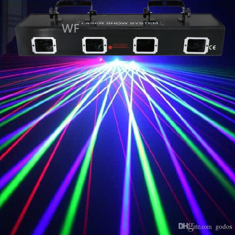 Dj Laser Lighting Rgyp Colors Stage Lighting 4 Heads Laser